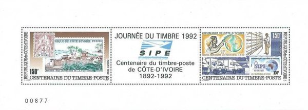 [Day of the Stamp - The 100th Anniversary of First Ivory Coast Stamps, type ]