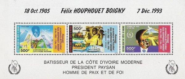 [The 1st Anniversary of the Death of President Félix Houphouët-Boigny, 1905-1993, Typ ]