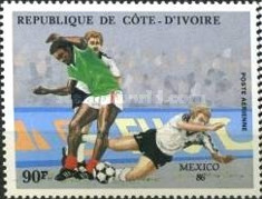[Airmail - Football World Cup - Mexico 1986, Typ AAH]