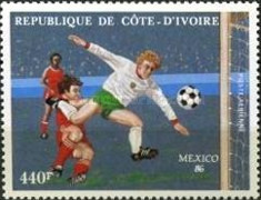 [Airmail - Football World Cup - Mexico 1986, Typ AAK]
