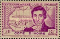 [The 100th Anniversary of the Death of Rene Caillie, 1799-1838, Typ AD1]