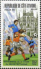 [Airmail - Football World Cup - Italy, 1990 Preliminary Rounds, Typ ADQ]