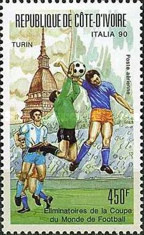 [Airmail - Football World Cup - Italy, 1990 Preliminary Rounds, Typ ADS]