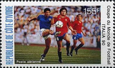 [Airmail - Football World Cup - Italy, Typ AEA]