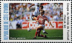 [Airmail - Football World Cup - Italy, Typ AEC]