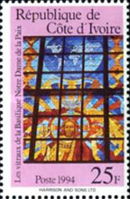 [Stained Glass Windows by Pierre Fakhoury from Our Lady of Peace Cathedral, Yamoussoukro, Typ AIA]