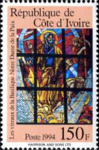 [Stained Glass Windows by Pierre Fakhoury from Our Lady of Peace Cathedral, Yamoussoukro, Typ AIB]