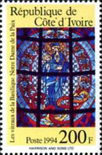 [Stained Glass Windows by Pierre Fakhoury from Our Lady of Peace Cathedral, Yamoussoukro, Typ AIC]