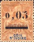 [Issue of 1892 Surcharged, type B]