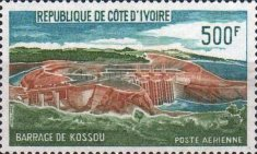 [Airmail - Completion of the Dam in Kossou, type IZ]