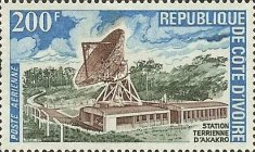 [Airmail - Opening of Satellite Earth Station, Akakro, type JB]