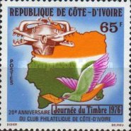 [The 20th Anniversary of the Day of the Stamp and and Ivory Coast Philatelic Club, Typ LM]
