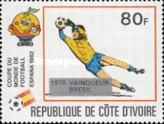 [Football World Cup - Spain - Overprinted with Winners from 1966-1982, Typ UM]