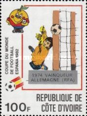 [Football World Cup - Spain - Overprinted with Winners from 1966-1982, Typ UN]