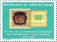 [The 25th Anniversary of U.N. Economic Commission for Africa, Typ VQ]