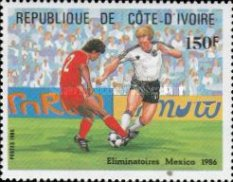 [Football World Cup - Mexico 1986, Typ YW]