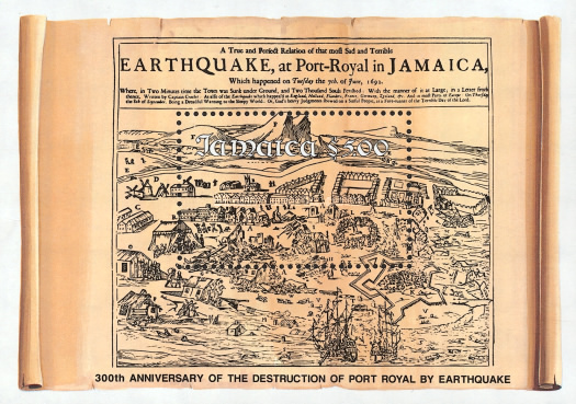 [The 300th Anniversary of the Destruction of Port Royal by Earthquake, type ]