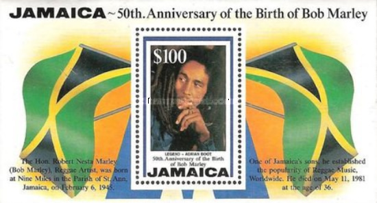 [The 50th Anniversary of the Birth of Bob Marley, type ]