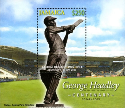 [The 100th Anniversary of the Birth of George Headley, 1909-1983, type ]