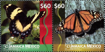 [The 50th Anniversary of Diplomatic Relations with Mexico - Joint Issue with Mexico, type ]