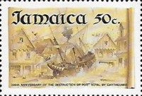 [The 300th Anniversary of the Destruction of Port Royal by Earthquake, type ABT]