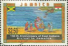 [The 150th Anniversary of the Arrival of East Indians in Jamaica, type AFA]