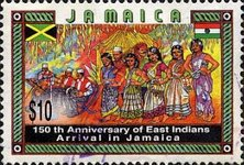 [The 150th Anniversary of the Arrival of East Indians in Jamaica, type AFB]