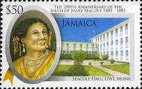 [The 200th Anniversary of the Birth of Mary Seacole, type ANJ]