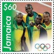 [Jamaican Medal Winners of the 2008 Olympic Games - Beijing, China, type AQO]