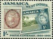 [The 100th Anniversary of Jamaican Postal Service, type EQ]