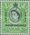 "[Issue of 1956 Overprinted ""INDEPENDENCE - 1962"" - Changed Watermark, type FP]"