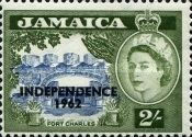 "[Issue of 1956 Overprinted ""INDEPENDENCE - 1962"" - Changed Watermark, type FV]"