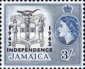 "[Issue of 1956 Overprinted ""INDEPENDENCE - 1962"" - Changed Watermark, type FW]"