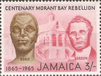 [The 100th Anniversary of the Morant Bay Rebellion against Governor John Eyre, type HA]