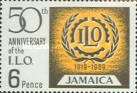 [The 50th Anniversary of the International Labour Organization, type HY]