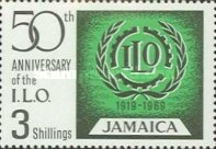[The 50th Anniversary of the International Labour Organization, type HY1]