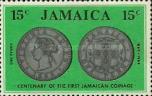 [The 100th Anniversary of Jamaican Coins, type JT]