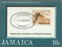 [The 300th Anniversary of the Jamaica Post Office, type LF]
