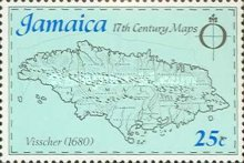 [Maps of Jamaica, type OB]