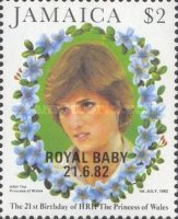 [The 21st Anniversary of the Birth of HRH The Princess of Wales - Overprinted