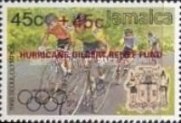 "[Olympic Games Overprinted in Black or Red ""HURRICANE  GILBERT RELIEF FUND"" - Same Prices, type YS]"