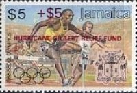 "[Olympic Games Overprinted in Black or Red ""HURRICANE  GILBERT RELIEF FUND"" - Same Prices, type YU]"
