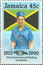 [The 75th Anniversary of Guiding in Jamaica, type ZN]