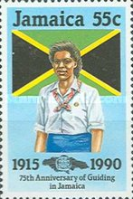 [The 75th Anniversary of Guiding in Jamaica, type ZO]