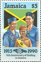 [The 75th Anniversary of Guiding in Jamaica, type ZP]