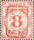 [Numeral Stamps - Malayan Postal Union Postage Due Stamps Handstamped Overprinted with Seal, Typ A8]