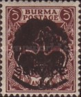 [Burma Official Stamps Overprinted Peacock Myaungmya Issue, Typ A8]
