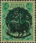 [Burma Official Stamps Overprinted Peacock Myaungmya Issue, Typ A9]