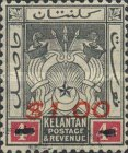[Coat of Arms - Kelatan Postage Stamps Surcharged, Typ E]
