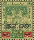 [Coat of Arms - Kelatan Postage Stamps Surcharged, Typ E1]